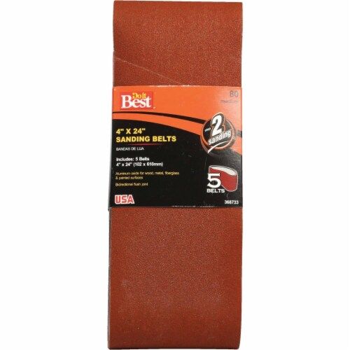 Do it Best 4 In. x 24 In. 80 Grit Dual Direction Sanding Belt (5-Pack) 368733 Perspective: front