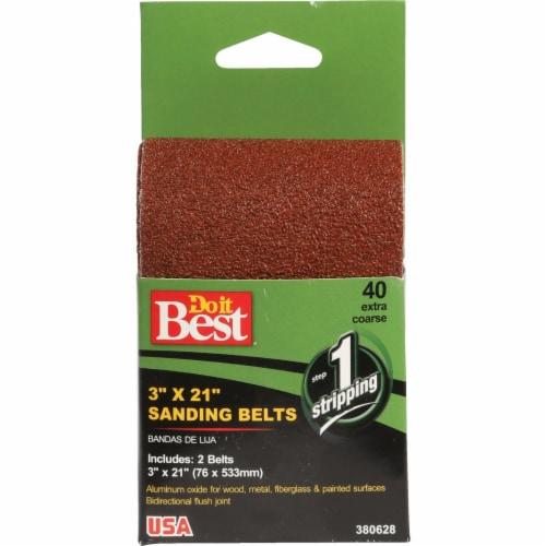 Do it Best 3 In. x 21 In. 50 Grit Heavy-Duty Sanding Belt (2-Pack) 380601 Perspective: front