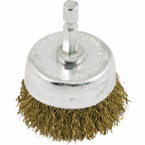 Do it 1-1/2 In. Coarse Drill-Mounted Wire Brush 361451DB Perspective: front