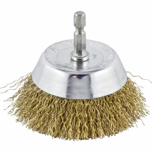 Do it 3 In. Fine Drill-Mounted Wire Brush 321311DB Perspective: front