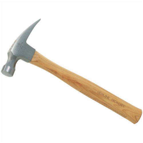Do it Best 16 Oz. Smooth-Face Rip Claw Hammer with Hickory Handle 323607 Perspective: front