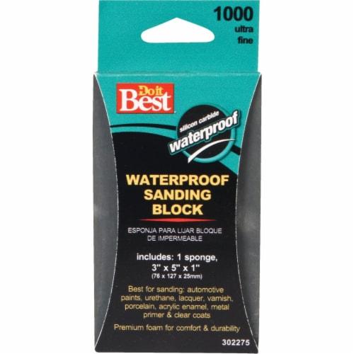 Do it Best Waterproof 3 In. x 5 In. x 1 In. 1000 Grit Ultra Fine Sanding Sponge Perspective: front