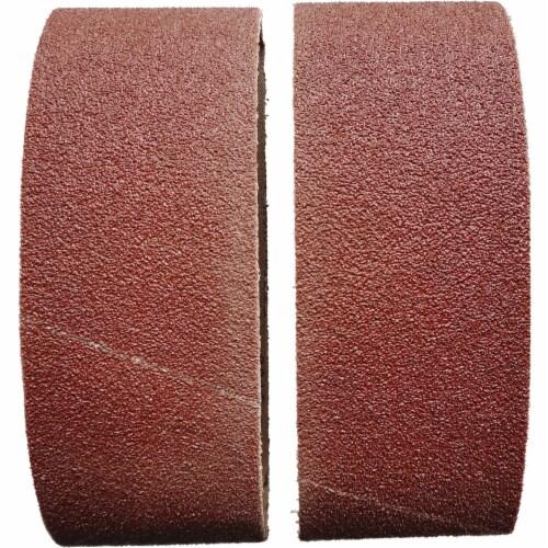 3 In. x 18 In. 40 Grit Heavy-Duty Sanding Belt (2-Pack) BS380350 Perspective: front