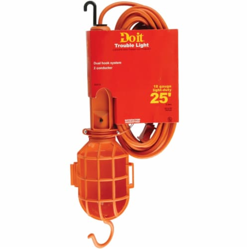 Do it 75W Incandescent Trouble Light with 25 Ft. Power Cord TL-182SJT--25-75W Perspective: front