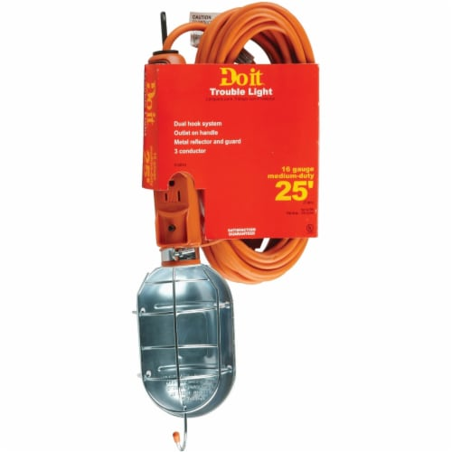 Do it Premium 75W Incandescent Trouble Light with 25 Ft. Power Cord Perspective: front