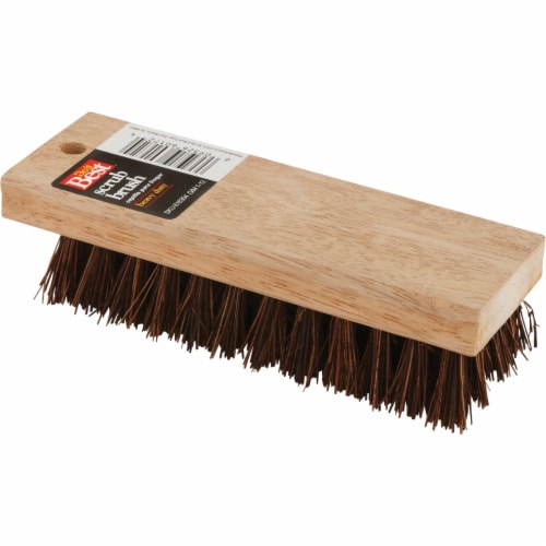 Do it 7-1/4 In. Palmyra Bristle Hardwood Scrub Brush 89615 Perspective: front