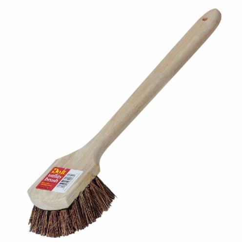 Do it 19-3/4 In. x 3 In. Palmyra Bristle Fiber Wood Scrub Brush 89637 Perspective: front