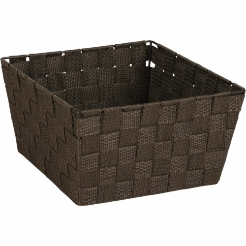 Home Impressions 9.75 In. x 5.5 In. H. Woven Storage Basket, Brown 799494-BR Perspective: front