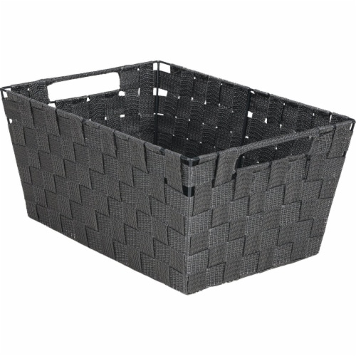 Home Impressions Large Gray Woven Basket 748106-GR Perspective: front