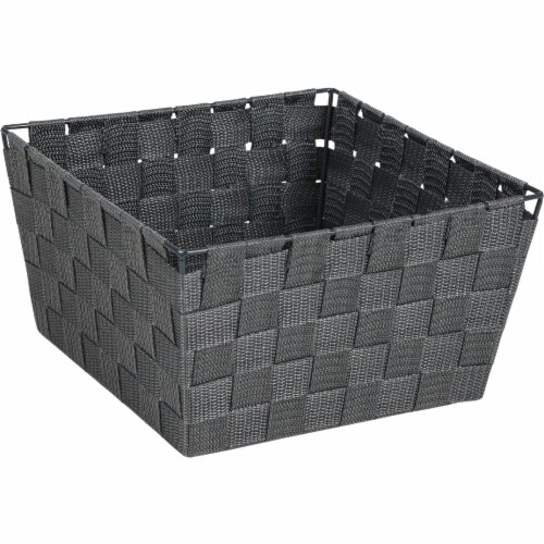 Home Impressions 9.75 In. x 5.5 In. H. Woven Storage Basket, Gray 799494-GR Perspective: front