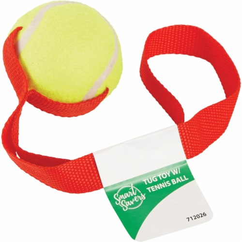 Smart Savers 6 Cm. Dia. Ball w/Tug Dog Toy CC401019 Pack of 12 Perspective: front