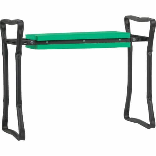 Best Garden Green Foam Pad w/Black Steel Frame Garden Kneeler Bench GM7104 Perspective: front