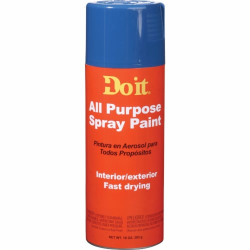 Do it 10 Oz. Gloss All Purpose Spray Paint, Blue 203283 Perspective: front
