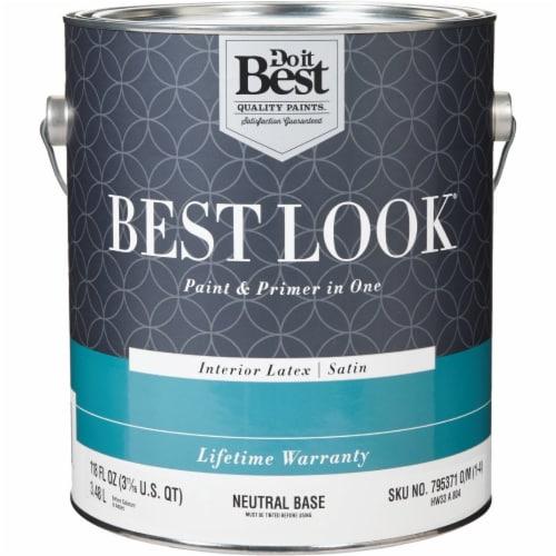 Do it Best Int Sat Neutral Bs Paint HW33A0804-16 Perspective: front