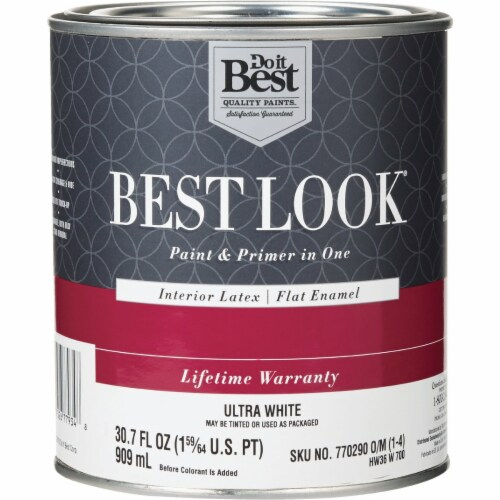 Do it Best Int Flat Ultra Wht Paint HW36W0700-14 Perspective: front