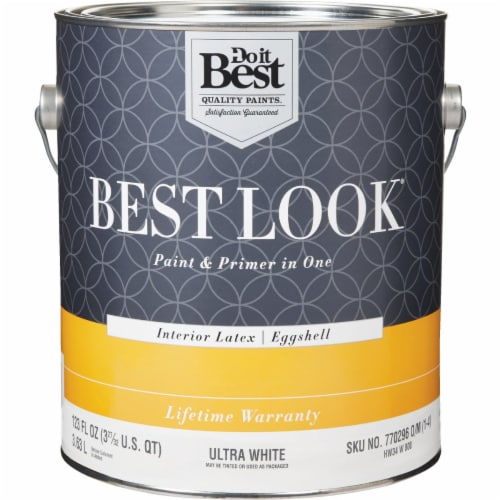 Do it Best Int Egg Ultra Wht Paint HW34W0800-16 Perspective: front