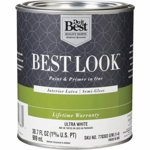 Do it Best Int S/G Ultra Wht Paint HW38W0800-14 Perspective: front