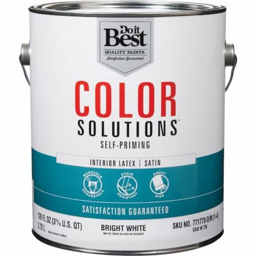 Do it Best Int Sat Bright Wht Paint CS42W0726-16 Perspective: front