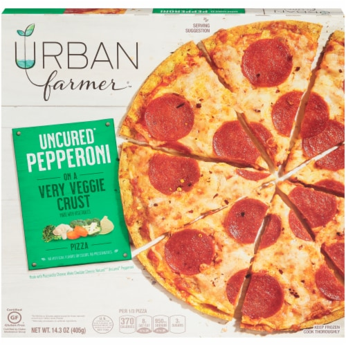 URBAN farmer Uncured Pepperoni Very Veggie Crust Pizza Perspective: front