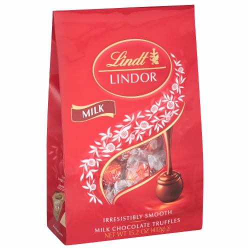 Lindt Lindor Milk Chocolate Truffles Perspective: front