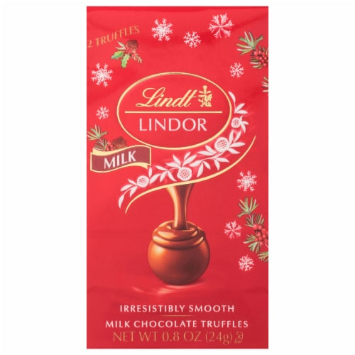 Lindt Lindor Holiday Mini Milk Chocolate Truffles Perspective: front