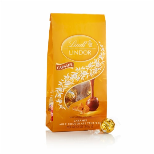 Lindt Milk Chocolate Caramel Truffles (2 Pack) Perspective: front