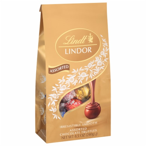 Lindt Lindor Assorted Chocolate Truffles Perspective: front