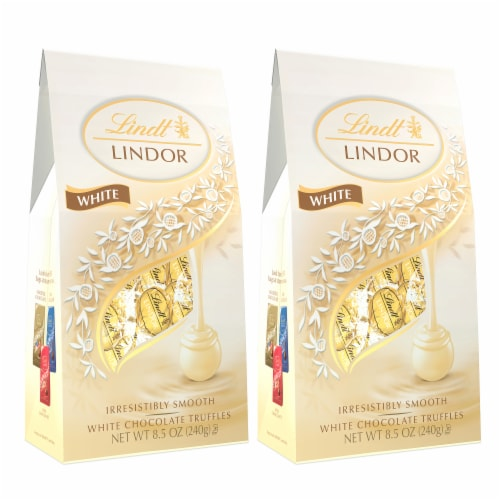 Lindt White Chocolate Truffles Perspective: front