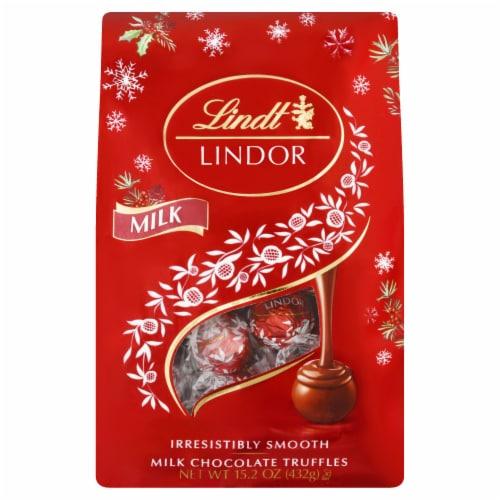 Lindt Lindor Holiday Milk Chocolate Bag Perspective: front