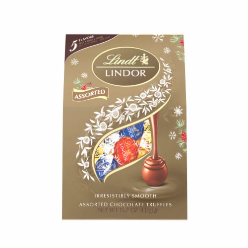 Lindt LINDOR Holiday Assorted Chocolate Truffles Perspective: front