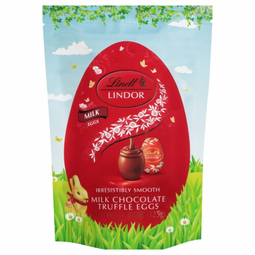 Lindt Lindor Milk Chocolate Truffle Eggs Perspective: front