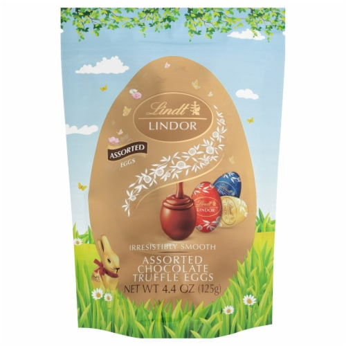 Lindt Lindor Assorted Chocolate Truffle Eggs Perspective: front