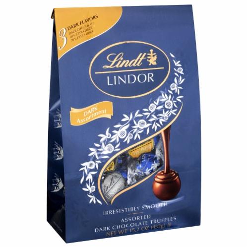 Lindt Lindor Assorted Dark Chocolate Truffles Perspective: front