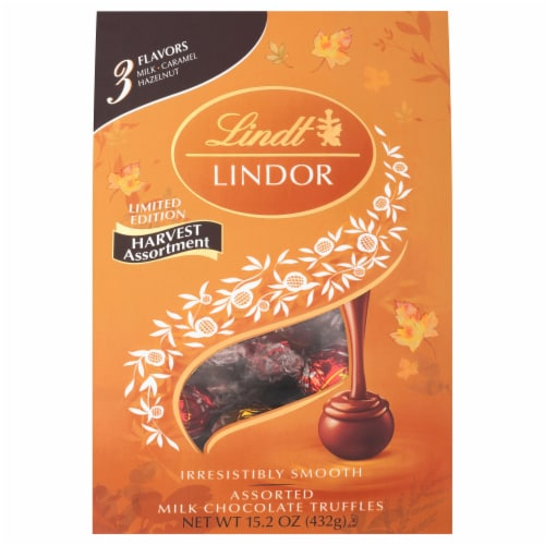Lindt Lindor Limited Edition Harvest Assortment Assorted Milk Chocolate Truffles Perspective: front