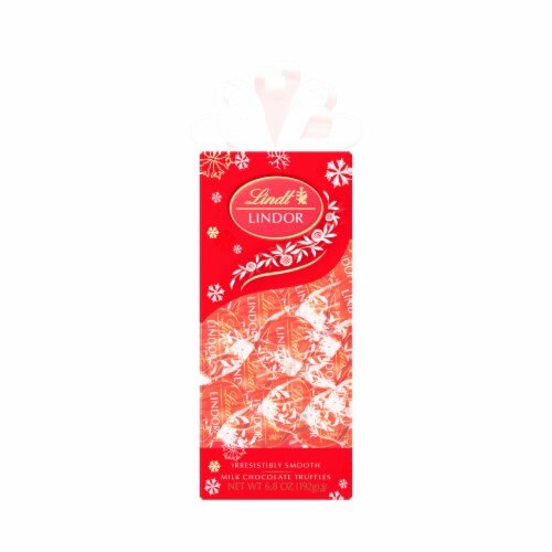 Lindt Lindor Holiday Milk Chocolate Truffles Perspective: front