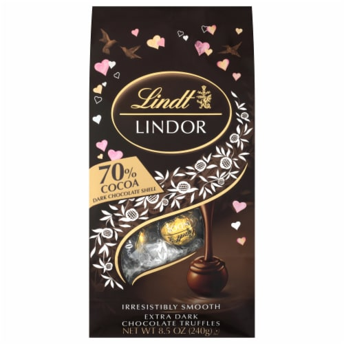 Lindt Extra Dark Chocolate Truffles Perspective: front