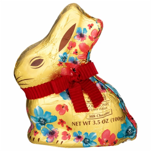 Lindt Gold Milk Chocolate Bunny Perspective: front