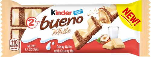 Kinder Bueno White Crispy Wafer Bar Perspective: front