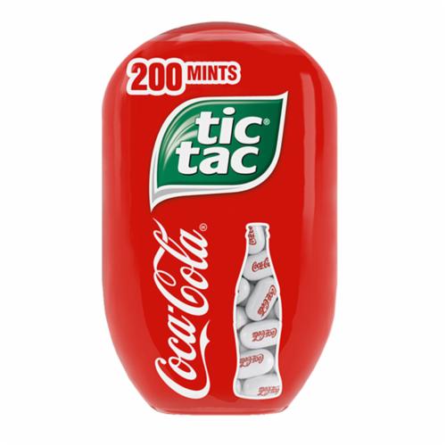 Tic Tac Coca-Cola Flavored Mints Perspective: front