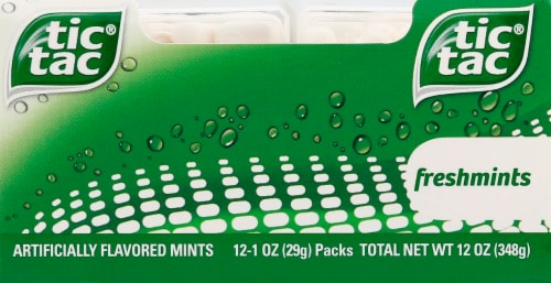 Tic Tac Freshmints Flavored Mints Perspective: front