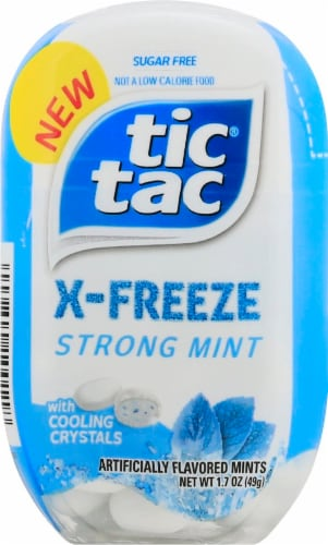 Tic Tac X-Freeze Strong Mint Flavored Mints Perspective: front