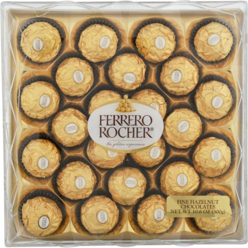 Ferrero Rocher Fine Hazelnut Chocolates Gift Box Perspective: front