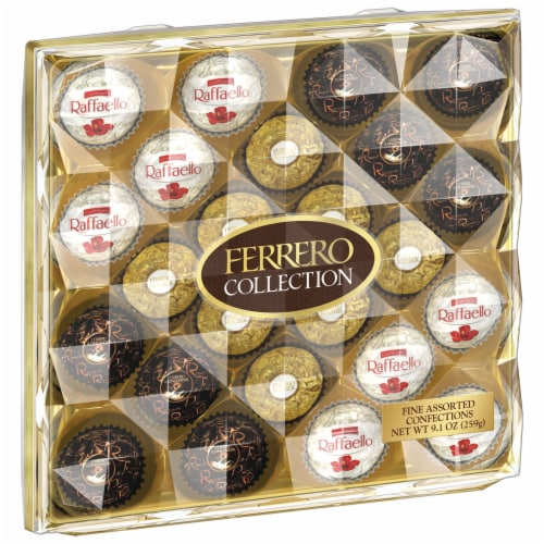 Ferrero Collection Fine Assorted Chocolate Confections Diamond Gift Box Perspective: front