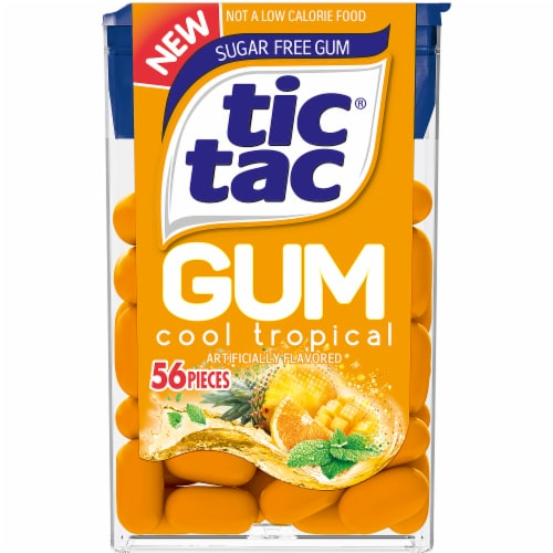 Tic Tac Sugar Free Cool Tropical Gum Perspective: front