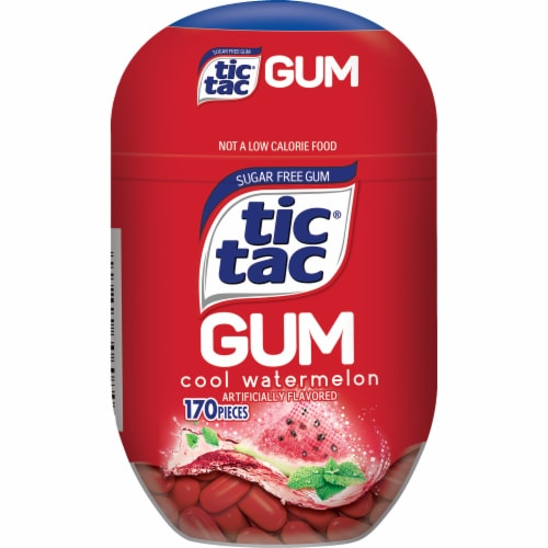 Tic Tac Cool Watermelon Sugar Free Gum Perspective: front