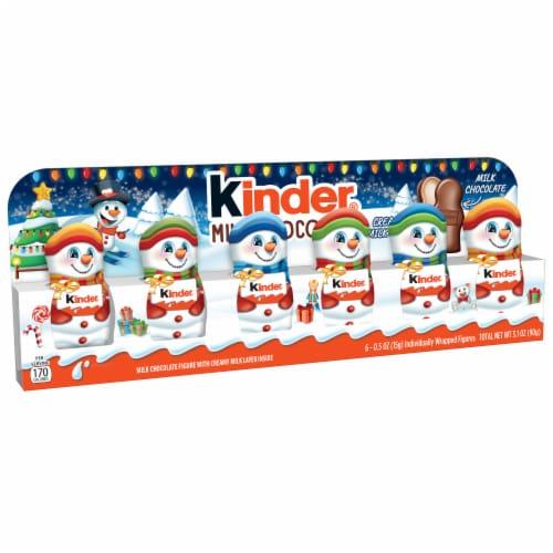 Kinder Milk Chocolate Snowmen Figures Perspective: front
