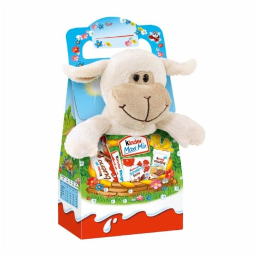 Kinder Chocolate with Plush 12 Count Perspective: front