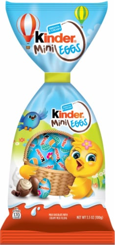 Kinder Chocolate Mini Eggs Perspective: front