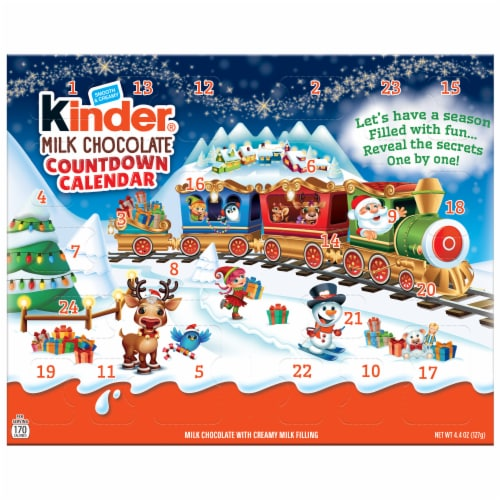 Kinder Chocolate Advent Countdown Calendar Perspective: front