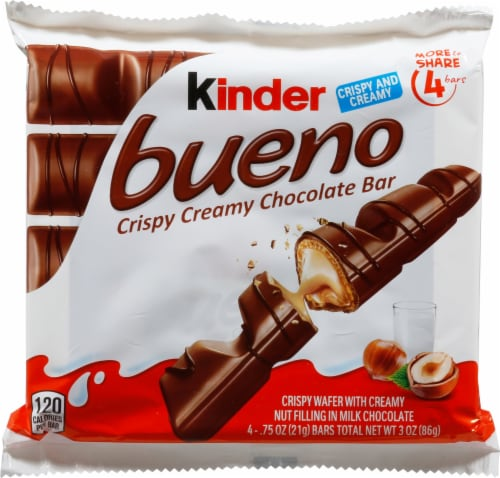 Kinder Bueno Crispy Creamy Chocolate Bars 4 Count Perspective: front